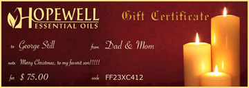 Gift Certificate Evening Candles