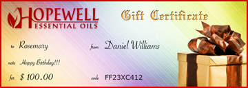 Gift Certificate Spring Rainbow