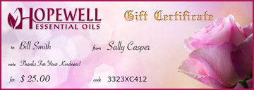 Gift Certificate Morning Rose