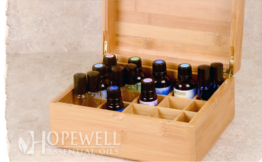 Hopewell Essential Oil - Essential Oil Storage Box ~ Bamboo